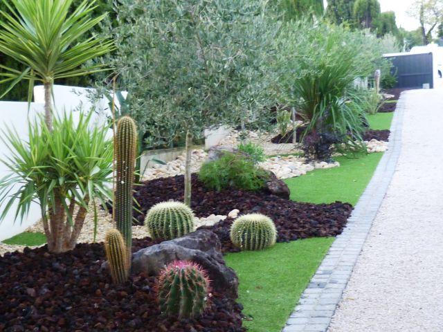 Am nagement jardin sec avec cactus for Amenagement des jardins